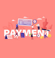 payment concept people paying money for services vector image