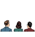 people back visitors viewers listeners vector image