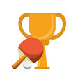 ping pong trophy cup championship vector image vector image