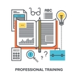 professional training concept vector image vector image