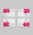 puzzle set business cards flyers brochures booklet vector image
