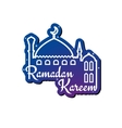 Ramadan Kareem greeting card design template vector image vector image