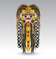 rangda leak traditional bali demon mask vector image vector image
