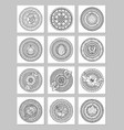 round geometric ornaments set of had drawn doodle vector image vector image