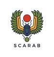 scarab egyptian logo icon vector image