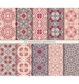 set of ten arabic patterns vector image vector image