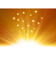 shiny abstract magic gold light background vector image vector image