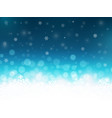 snowflakes background with particles christmas vector image