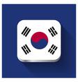 south korea flags design vector image