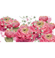 spring flowers greeting card watercolor vector image vector image