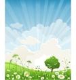 Summer scenery vector image vector image