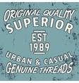 Superior vintage stamp vector image vector image