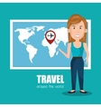 Travel around the world design