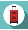 travel suitcase red vacation design vector image