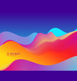 trendy colorful background with wavy shapes vector image vector image