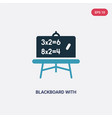 two color blackboard with basic calculations icon vector image vector image