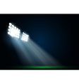 Two spotlights on a football field vector image vector image