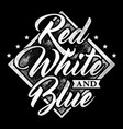 typography red white and blue vector image vector image