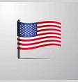 united states of america waving shiny flag design vector image