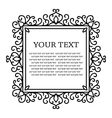 Vintage calligraphic floral frame vector image vector image