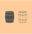 wine or beer barrels dark grey set icon vector image