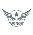 wing logo simple gray style vector image vector image