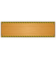wood plank background with caution tape pattern vector image vector image