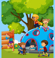 young children playing in playground vector image vector image