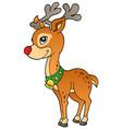 young christmas reindeer 2 vector image vector image