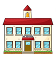 A school building vector image vector image