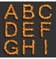 alphabet set with circles vector image vector image