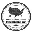 america map stamp symbol grunge design 4th of vector image