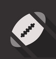 american football ball isolated on background vector image