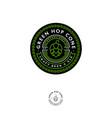 beer pub emblem hop cone logo craft beer ale vector image vector image