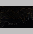 black background with shiny contour lines vector image vector image