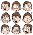 Boy face vector image vector image