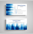 business card with abstract blue design stripes vector image
