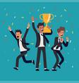 businessmen winning concept vector image vector image