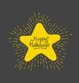 cartoon star shaped christmas tree bauble vector image