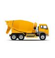 cement mixer truck vector image vector image