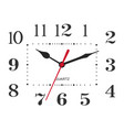 classic black and white round wall clock isolated vector image vector image