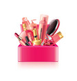 cosmetics box isolated vector image