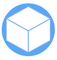 cube sign icon flat design style vector image vector image