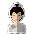 cute geisha character icon vector image vector image