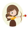Cute zodiac sign - Sagittarius vector image