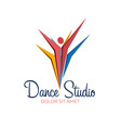 Dance studio logo dancer logotype