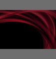 dark red abstract smooth blurred waves background vector image vector image