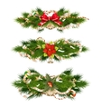 Delicate Christmas ornaments EPS 10 vector image vector image