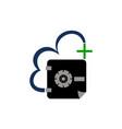 digital document cloud secure vault vector image vector image