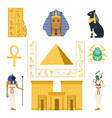 egypt set egyptian ancient symbols colorful vector image vector image